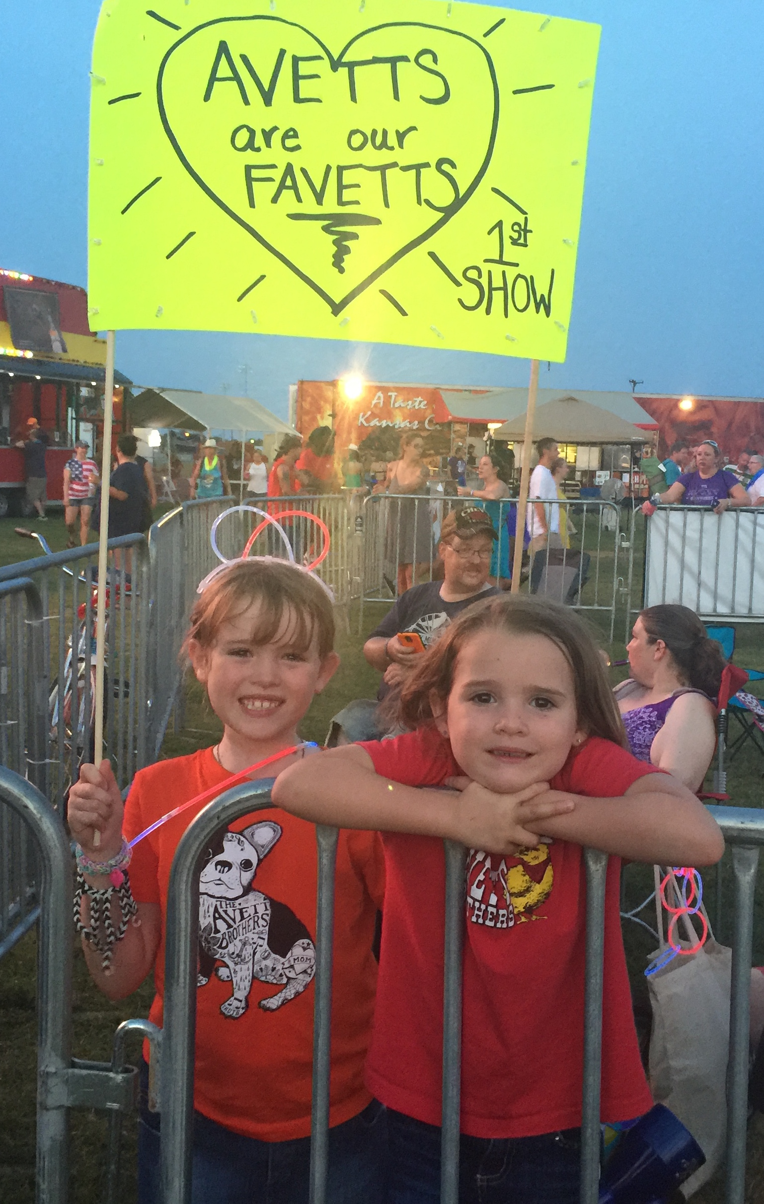 Gemma and Morgan made the eight-hour trip from Austin, Texas to Muskogee just to see the Avett Brothers.