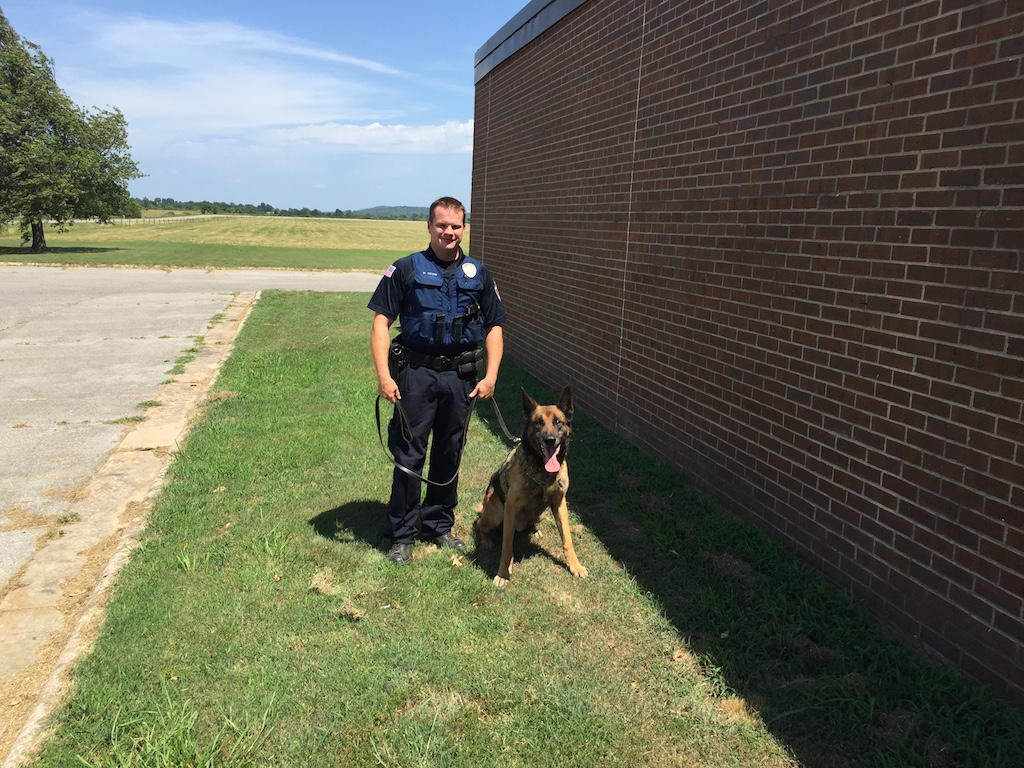 Sgt. Bill Peters and Indie