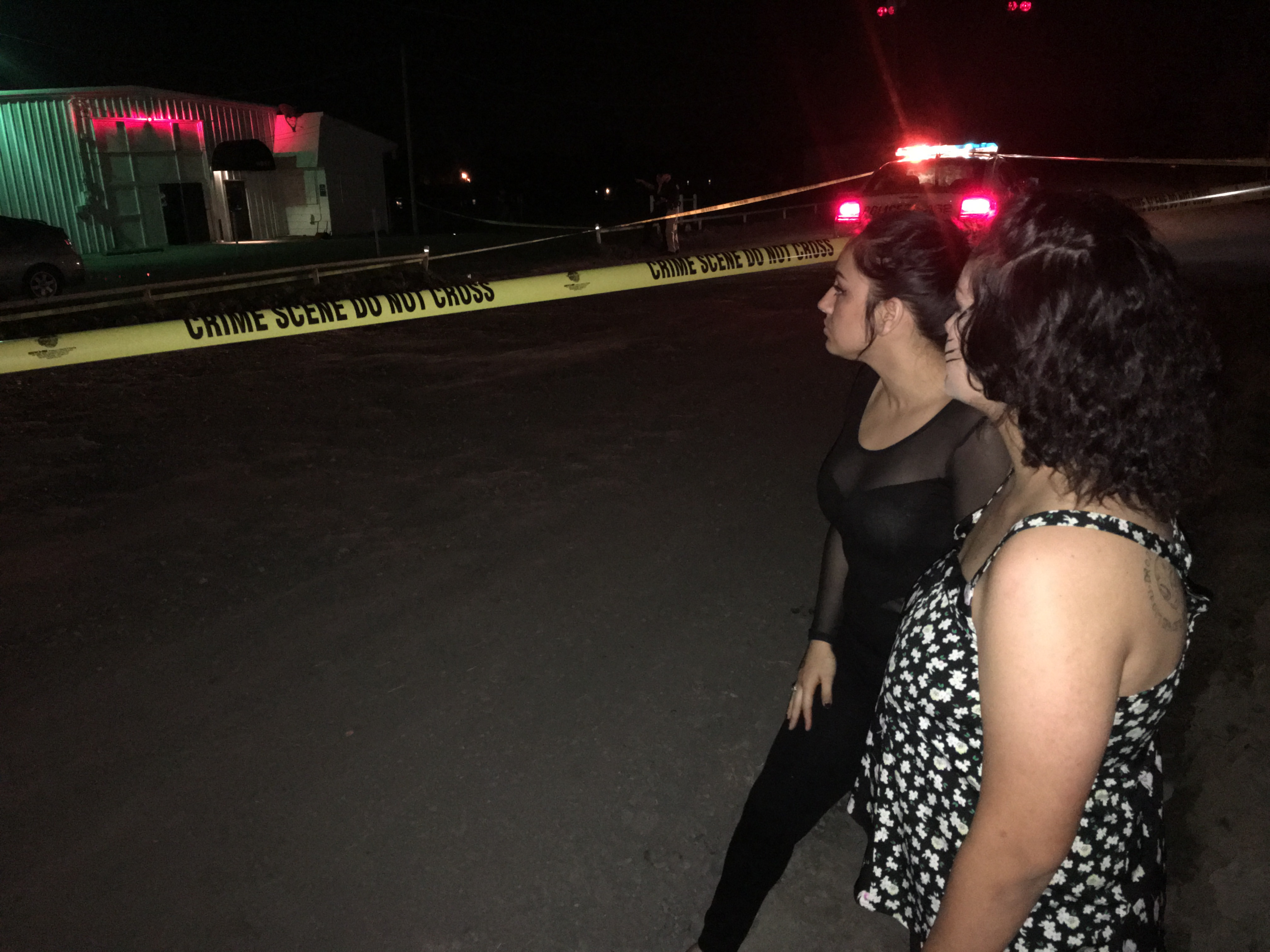 Tatiana Velazquez, left, and Brianna Hernandez recount their terror as the club erupted into chaos.