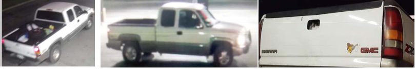 Tulsa Police believe Courtney Palmer's body was dumped from this pickup.