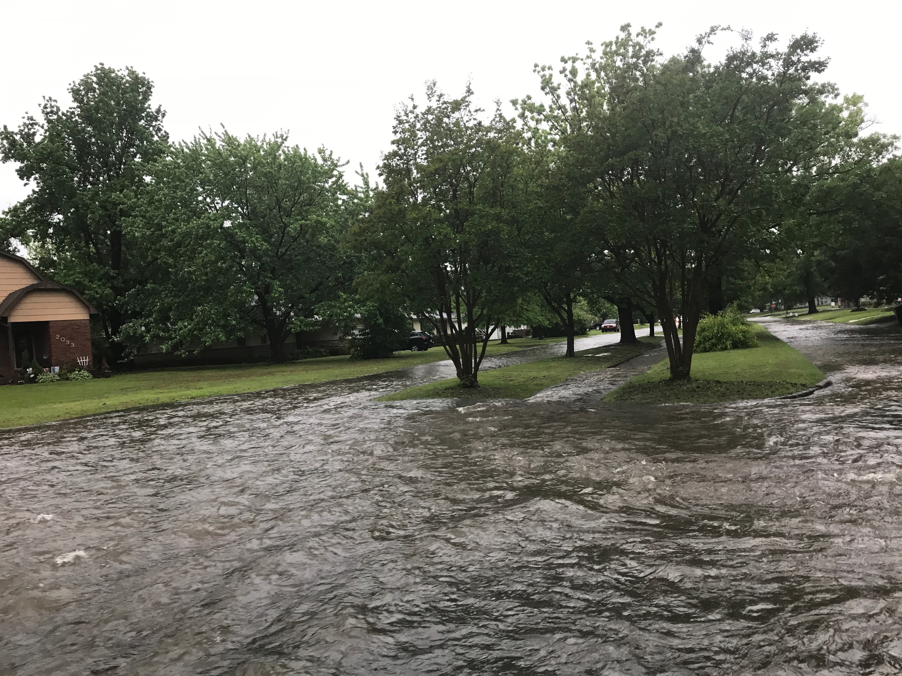 Floodwaters encased Muskogee over the weekend.