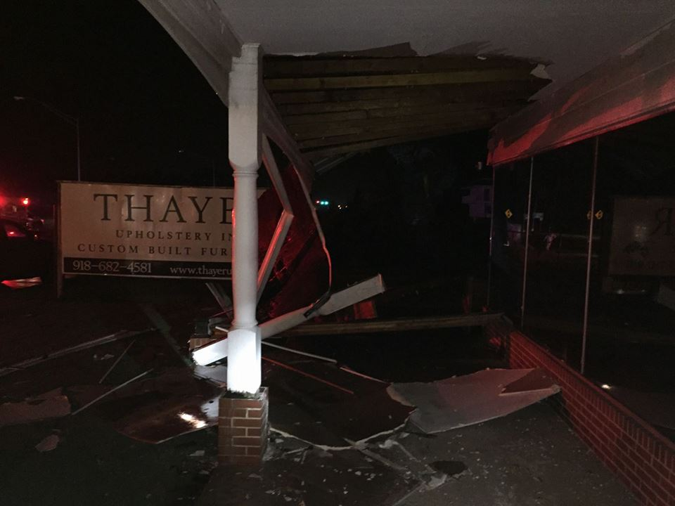 Thayer Upholstery was also hit by the storm