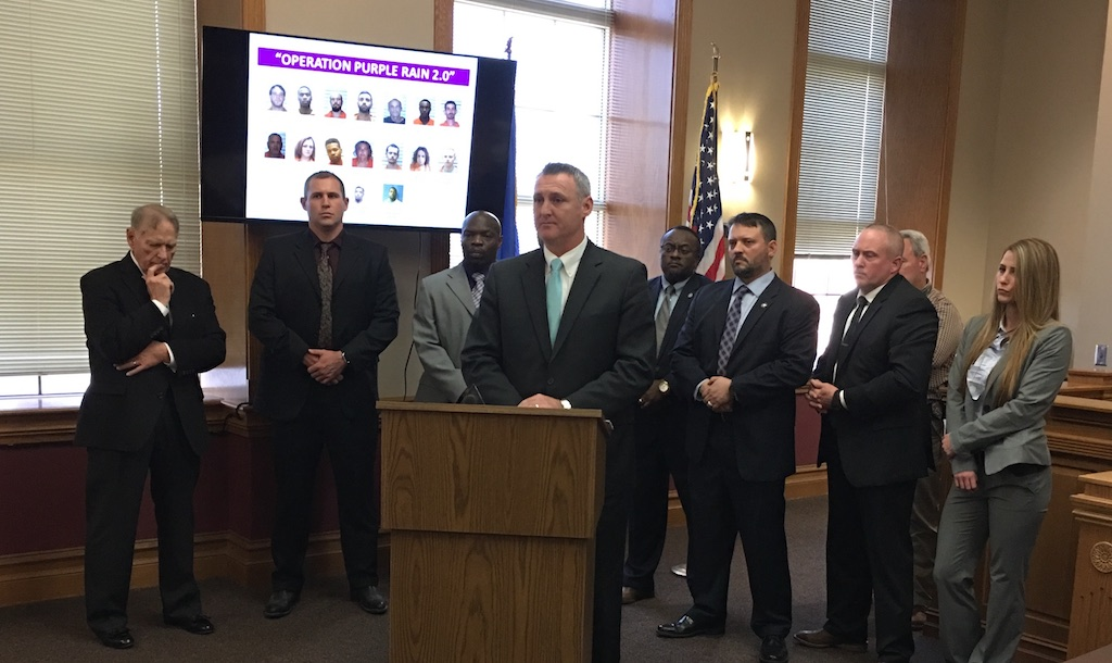 District Attorney Orvil Loge talks about rounding up suspects with outstanding warrants.