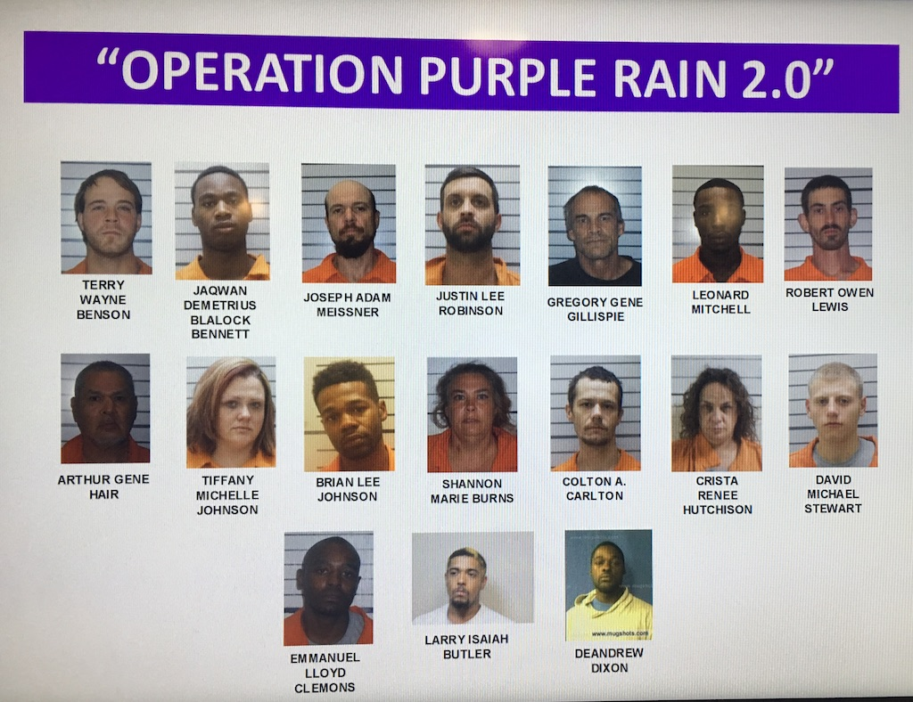 17 of the 32 suspects arrested.