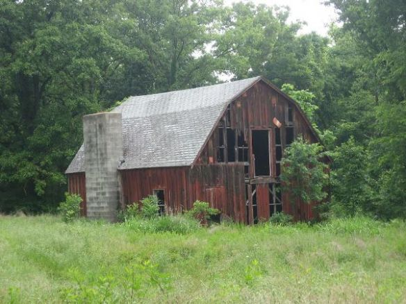 This barn was used for Girl Scout activities until 1977.