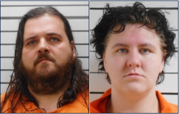 Micheal Miller, left, and Courtney Perkins
